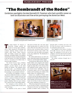 Click here for a full PDF file of the Western Art Collector feature on Kenneth M. Freeman.